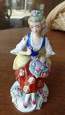Modern Reproduction Continental Porcelain Flower Lady