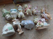Lenox Christmas Winnie The Pooh Miniature Tree Ornaments Set of 10 Rare