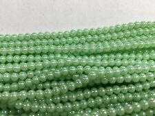 Light green aurora faux pearls beautiful 3-1/2 mm lot of 4800