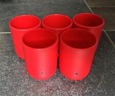 Lot de 5 gobelets UMBRA Touch rouge doux neufs