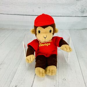 GUND Curious George Plush Bean Bag Toy Small Stuffed Animal Hard Eyes Soft Toy