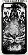 For iPhone 4S 5s 7 8 X XS Black White Print Tigers Lion Animals Jungle Case