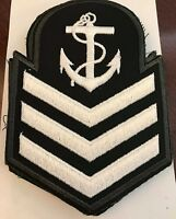 Royal Canadian Cadets Leading Seaman Rank Embroidered White on Green