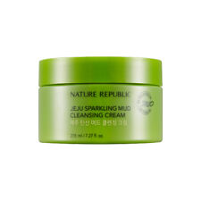 [NATURE REPUBLIC] Jeju Sparkling Mud Cleansing Cream - 215ml (New) / Free Gift