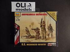 1/72 US Modern Mechanized Infantry FIGURES SET - Zvezda 7407