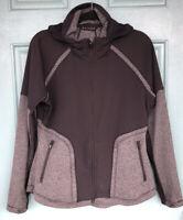 Athleta Women's Black Gray Full Zip Hooded Sweatshirt Long Sleeve Size Medium