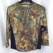 Scent Blocker Shirt Youth Large Camo Long Sleeve Hunting Realtree Bone Collector