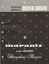 Marantz Service Manual Model SR240 SR340 Original Printed Factory Repair Book