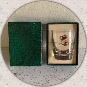 VTG OLD FITZGERALD Shot Glass w/ Box Bourbon Whiskey Gold Stitzel Weller