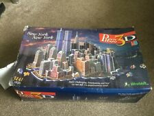 PUZZ 3D NEW YORK NEW YORK BRAND NEW AND  FACTORY SEALED BY WREBBIT DAMAGED BOX