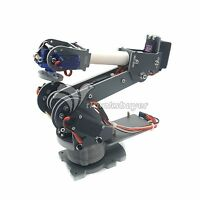 Assembled 6DOF Industrial Robot Mechanical Alloy for Arduino Robotics w/ Servos