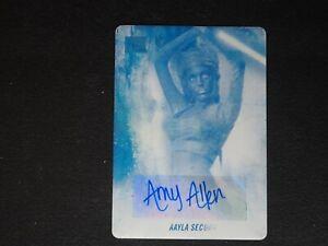 2018 Topps Star Wars Galaxy Amy Allen Aayla Secura AUTO Cyan Printing Plate #1/1