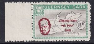 SARK 1965 WINSTON CHURCHILL / LIBERATION 8d COMMEMORATIVE STAMP MNH