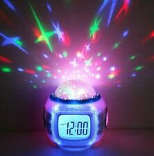 Children Room Starry Sky Alarm Clock with Music, Calendar, and Thermometer