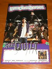 Gym Class Heroes The Quilt Poster Original 2-Sided Promo 17x11 RARE