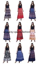 LOT OF ANY 10 WOMEN ETHNIC FLORAL COTTON LONG SKIRT INDIAN WRAP AROUND