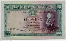 ~ Portugal 100 Escudos Billete - 1957-P159 ~