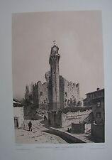 1973 CASTELLO DI NOZZANO A. Durand Lucca Serchio litografia