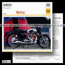 #036.10 NORTON 350 MODEL 50 1956 Fiche Moto Classic Bike Motorcycle Card