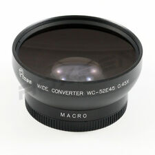 52mm 0.45x Wide Angle Conversion lens for Canon Sony Nikon Panasonic Pentax