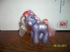 2003 2004 HASBRO MY LITTLE PONY PONIES PURPLE BABY ROMPEROONI SUPER LONG HAIR
