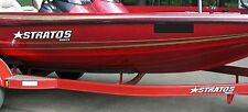 """2 - 16"""" x 3"""" Vinyl Graphic Stratos Boat Decal Sticker Signs for Bass fishing"""
