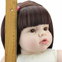 "28"" Alive Lifelike Reborn Baby Girl Dolls Silicone Naked Toddler Doll DIY Gifts"