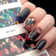 Nail Art Water Decals Transfer Stickers Flower Painting Tips W05 BORN PRETTY