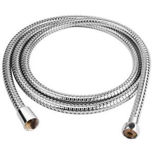 2 m Flexible Stainless Steel Chrome Standard Shower Head Bathroom Hose Pipe UK