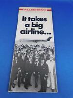 ALLEGHENY AIRLINE TIMETABLE SCHEDULE JUNE 1976 COMFORT CABIN DC-9-50 ADVERTISING