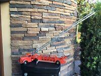 "Vintage Smith Miller 35"" Mack S.M.F.D Aerial Ladder Cast  Fire Truck"