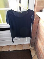 size 18 navy top with tyings to one side