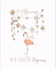 Motiational Wall Quote, Room Art Decor, Graphic Design Print, Be A Flamingo