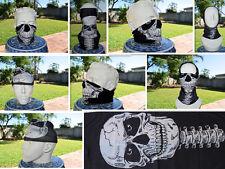 'SKULL' Head/Face/Mask/Neck Multi-wear tube Bandana/Durag.SPF5,Scarf/Wrap. 001