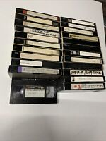 Lot Of 23 Pre-Recorded VHS Video Cassettes Tapes movies/tv Shows /commercials