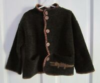 KinderWear Berber Fleece Alligator Crocodile Sweater Jacket Toddler Boys 4T KIds
