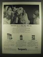 1964 Sergeant's Ad - Flea and Tick Spray, Derma-Foam