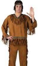 Native American Indian Costume Adult Brave Warrior Male Mens - Fast Ship -