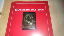STAFFA SCOTLAND - MOTHERS DAY 1976 GOLD STAMP