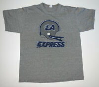 Vintage 80s Los Angeles Express USFL Football T-Shirt Size Adult M/XL Gray