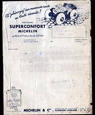 """CLERMONT-FERRAND (63) USINE de PNEUS / PNEUS SUPERCONFORT """"MICHELIN & Co"""" 1933"""