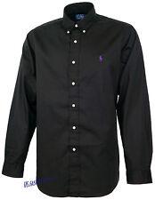 Ralph Lauren Herren Hemd Oberhemden Hemden 100%Baumwolle Schwarz S -- XL