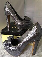 Diba Yip Per Pewter Women Pumps Size 8 M Silver