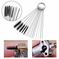Carb Carburetor Cleaner Cleaning Brushes Kit Small Wire 10 Needles 5 Brush Kit