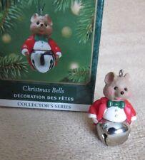 Metal Xmas bell Sound Mouse series #7 Hallmark miniature mini Ornament & Box 7th
