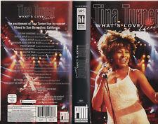 TINA TURNER  videocassetta orig VHS What's love live 1994 LIVE