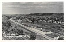 Guttenberg IA Aerial View of Motels~Gas Stations~Homes~Factory~RPPC c1950