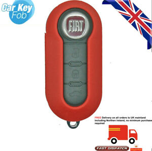 Red Flip Car Remote Key Shell Cover Case Replace For Fiat 500 Punto Palio Bravo