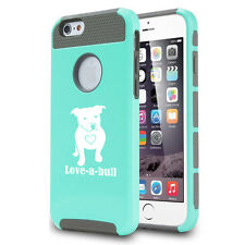 For iPhone SE 5 5s 6 6s 7 Plus Shockproof Impact Hard Case Love-A-Bull Pitbull