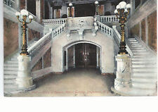 Lobby of Security Mutual Building  Binghamton  NY   Mailed 1908   Postcard 784